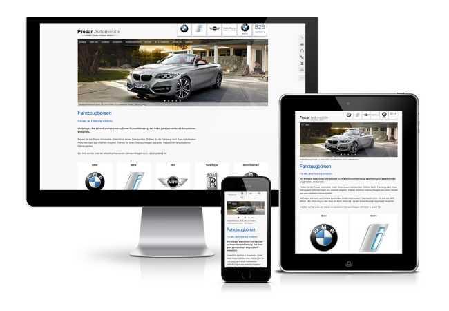 Fahrzeugverwaltung Software_Darstellung auf verschiedenen Bildschirmen
