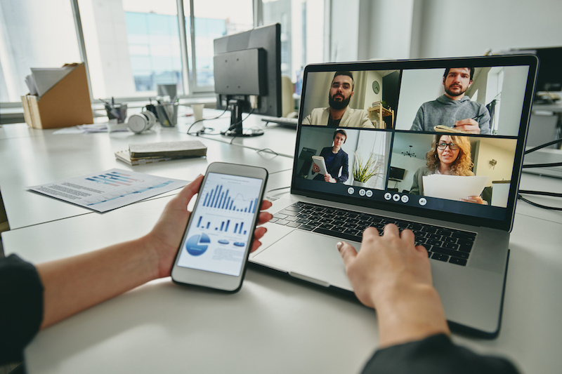 digitale Videokonferenz Autohandel